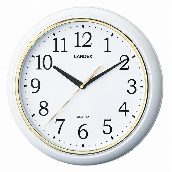 連続秒針のシンプル掛時計