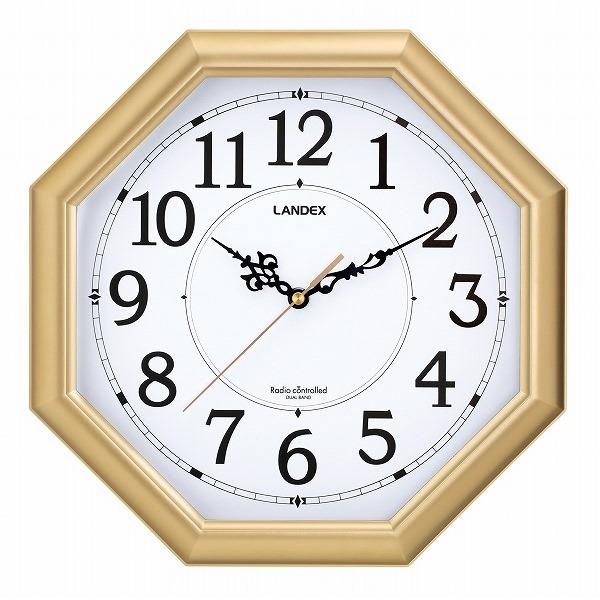 八角電波掛時計