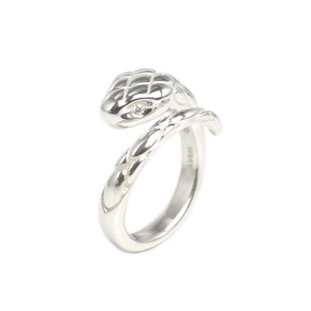 EPHEMERAL SNAKE RING (with diamond)