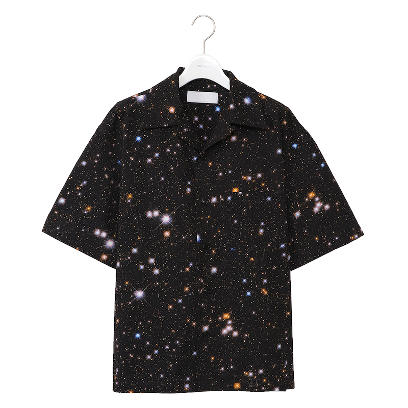 NEONSIGN COSMO MILKY COTTONTWILL SHIRT HS BLACK
