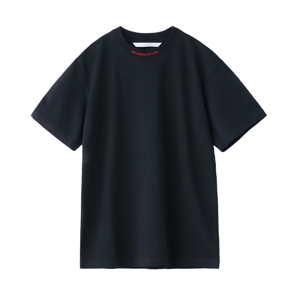 JOHNLAWRENCESULLIVAN LOGO JACQUARD T-SHIRT BLACK/RED
