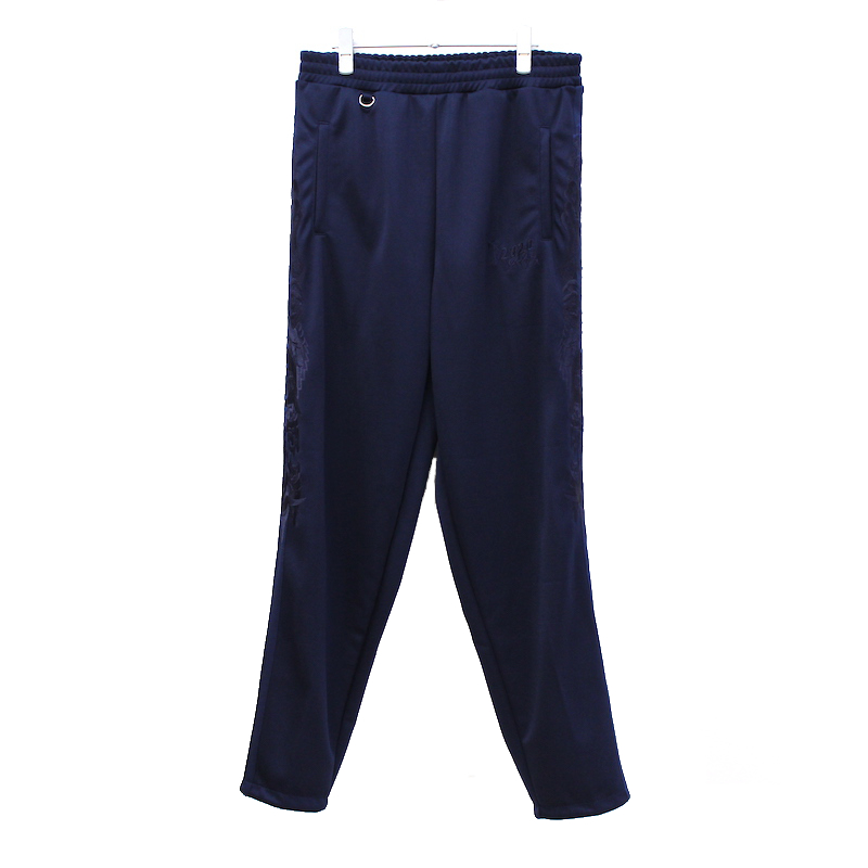doublet CHAOS EMBROIDERY TRACK PANTS NAVY