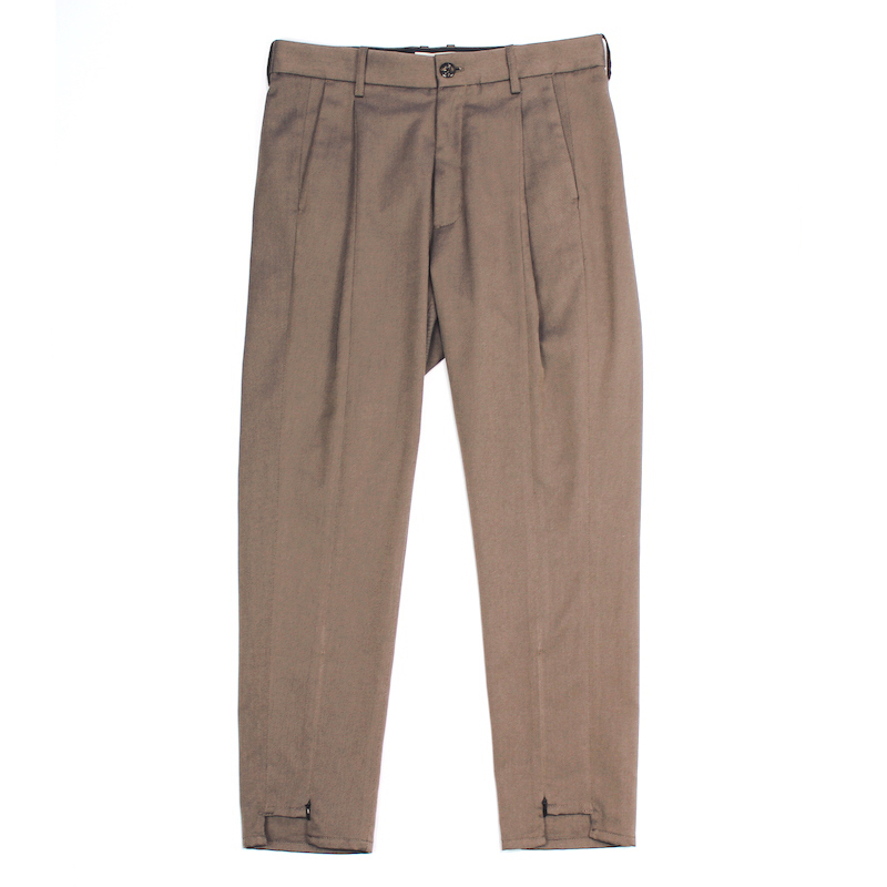 JIEDA SWITCHING TUCK SLACKS CHARCOAL GRAY