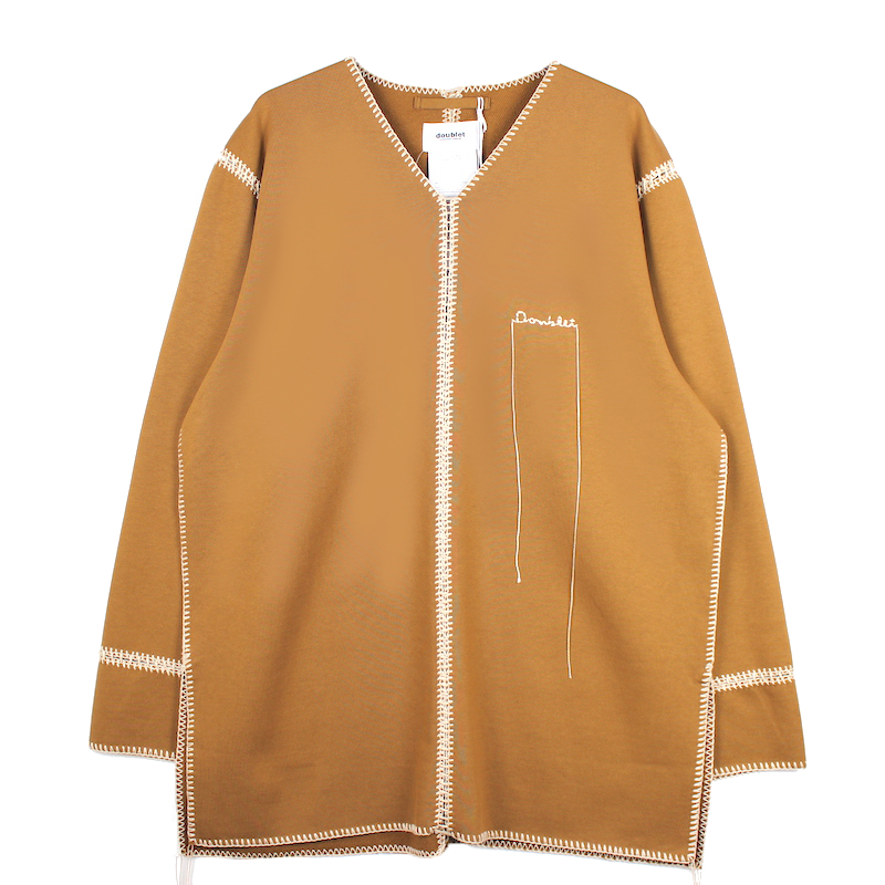 doublet BIG STITCH SWEAT SHIRT CAMEL