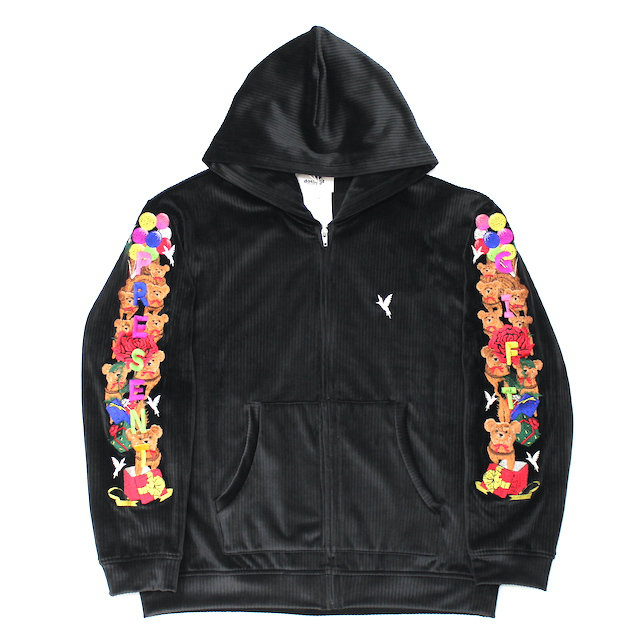 doublet CHAOS EMBROIDERY COMFY HOODIE BLACK