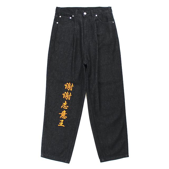 SHEI SHEI CO.LTD × BAD BOY BAGGY DENIM BLACK
