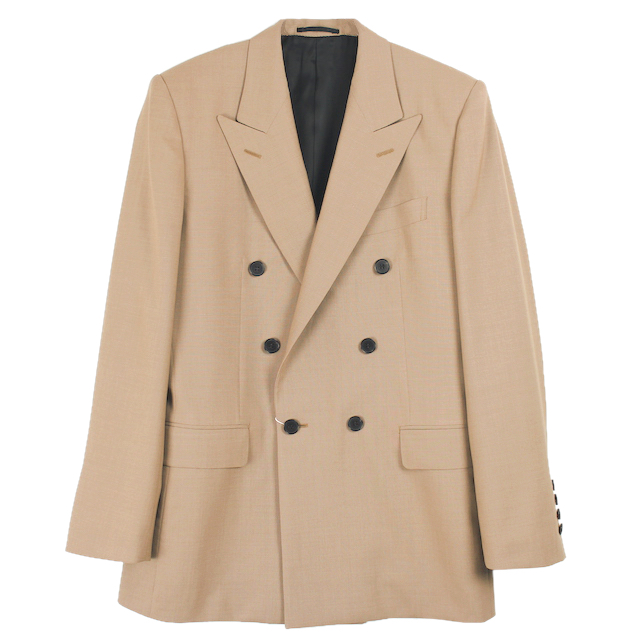 LITTLEBIG FRARE SLEEVE DOUBLE BREASTED JACKET CAMEL
