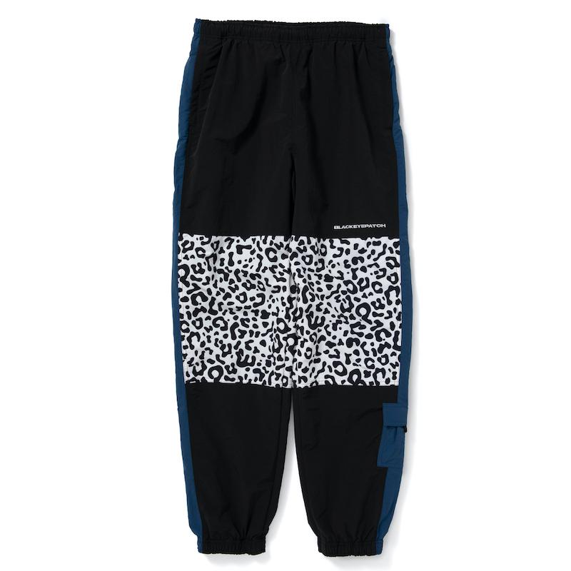 BlackEyePatch LEOPARD TRACK PANTS NAVY/BLACK