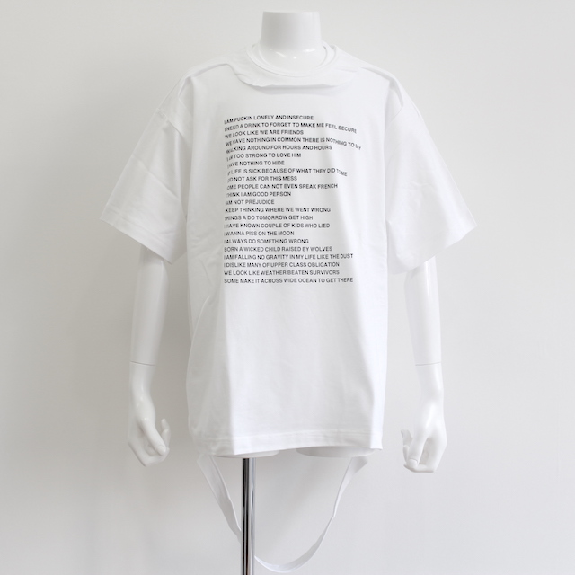 "NEONSIGN TRIPLE MIX T-SHIRT ""POEM&LONER"" BWH"