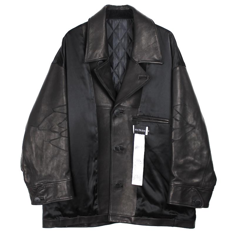 elephant TRIBAL fabrics INSIDE OUT CAR COAT BLACK