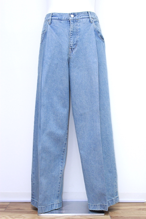 "NEONSIGN 344 WIDE DENIM SLACKS ""USED"""
