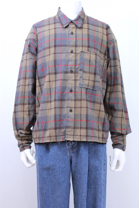 JIEDA 18W-SH02-A CUT OFF FLANNEL SHIRT 2カラー