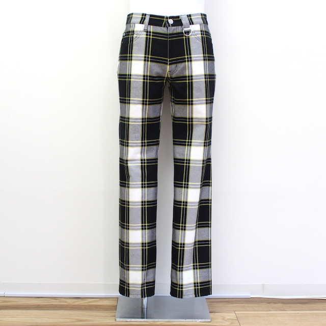JOHNLAWRENCESULLIVAN COTTON CHECK 5POCKET PANTS
