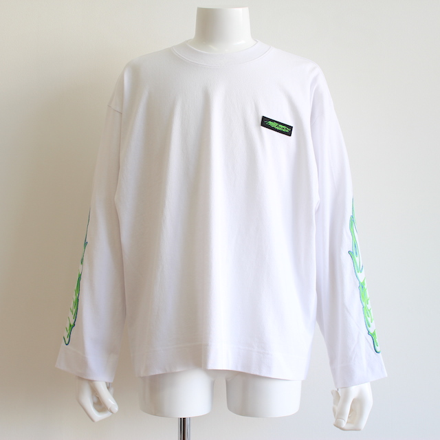 JIEDA EMBROIDERY ZIP L/S WHITE