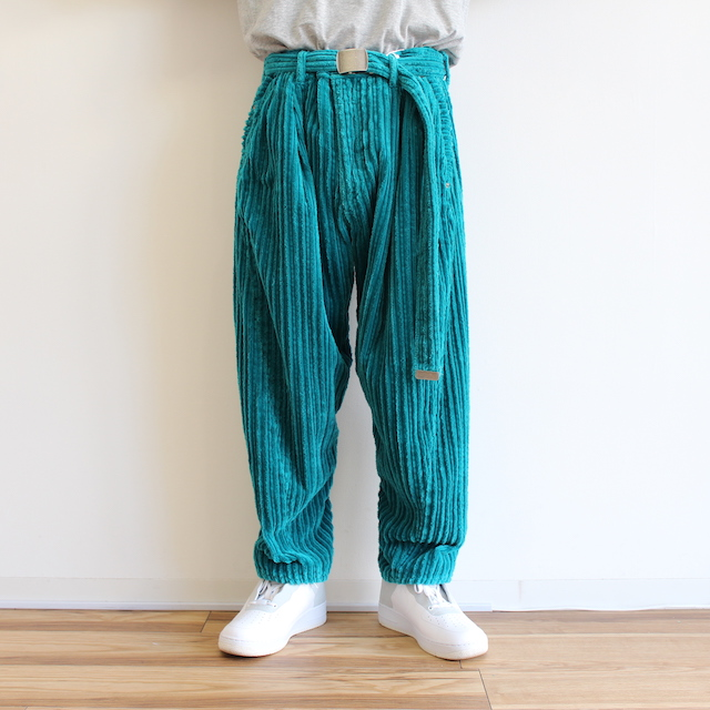 doublet CORDUROY WIDE TAPERED TROUSERS B.GREEN