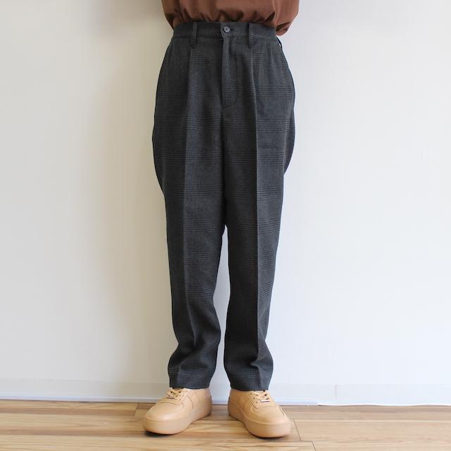 elephant TRIBAL fabrics 2 TUCK SLACKS BLACK