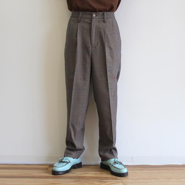 elephant TRIBAL fabrics 2 TUCK SLACKS BEIGE