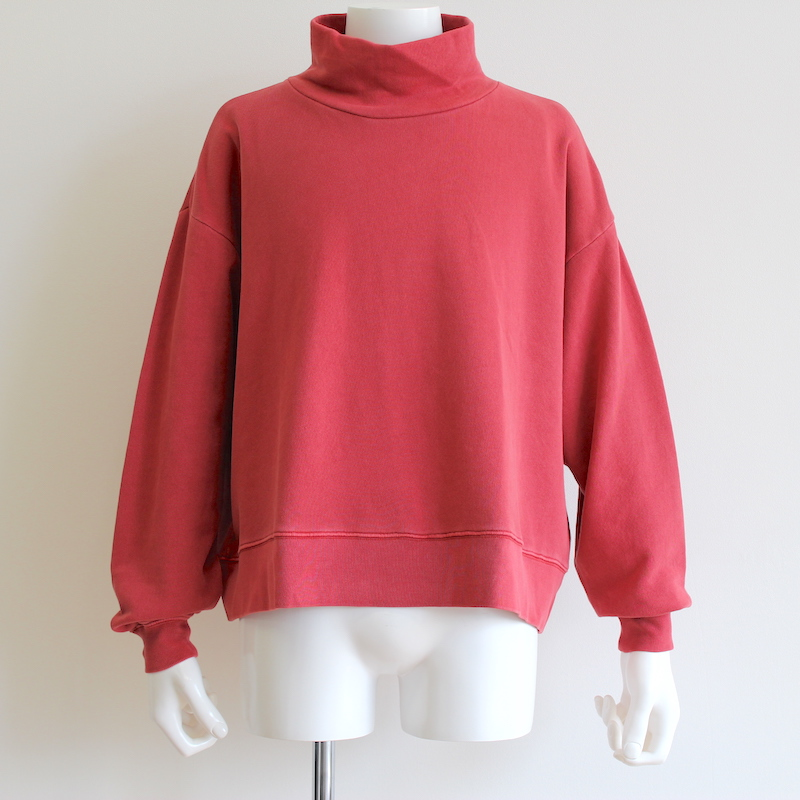KAIKO OBLONG H.N SWEAT PIGMENT RED BROWN