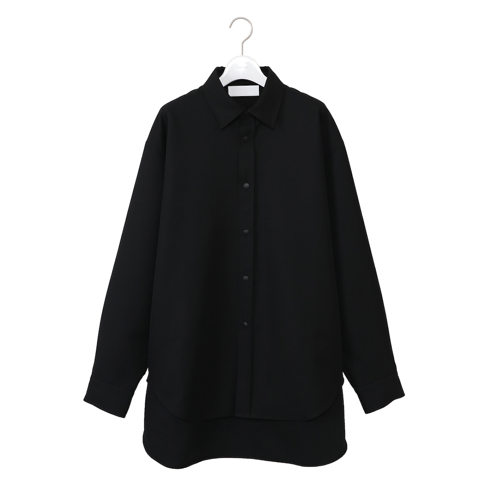 NEONSIGN LONG TAIL SHIRT BLACK