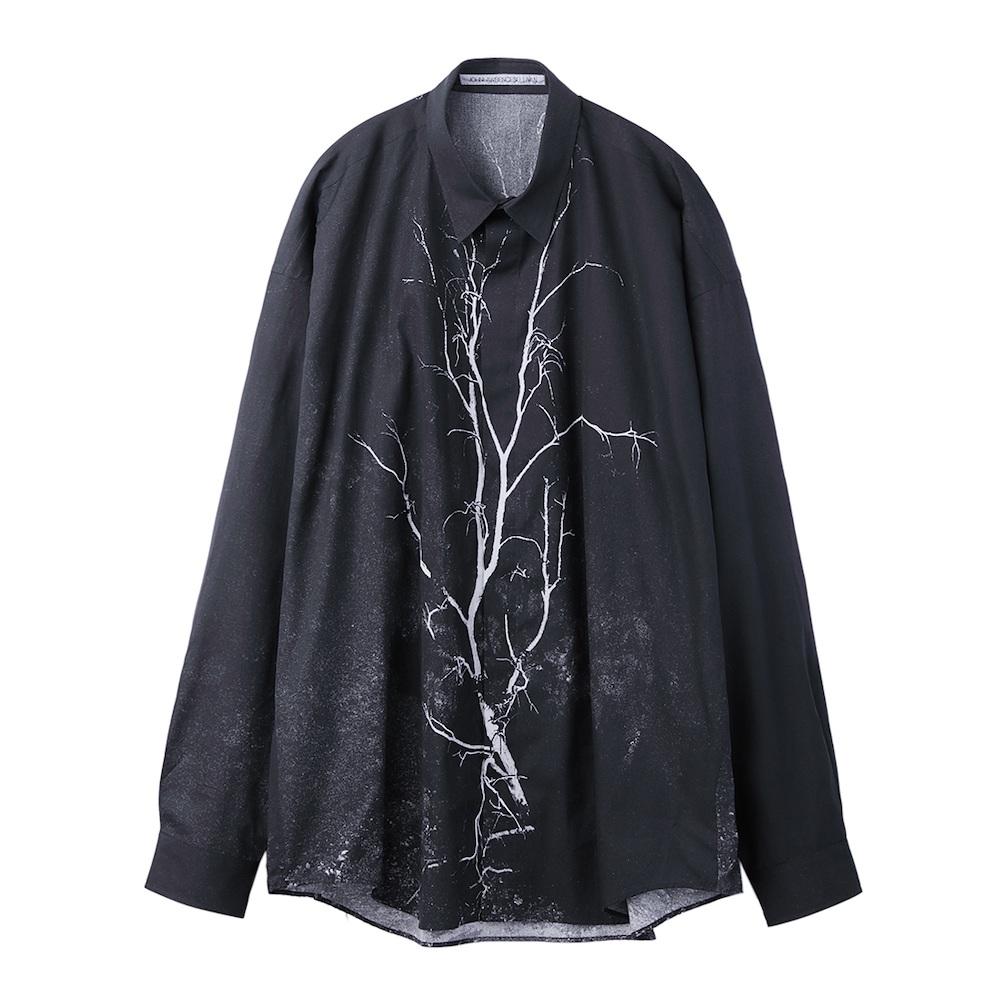 JOHNLAWRENCESULLIVAN × COLEY BROWN PHOTO PRINTED OVERSIZED SHIRT BLACK