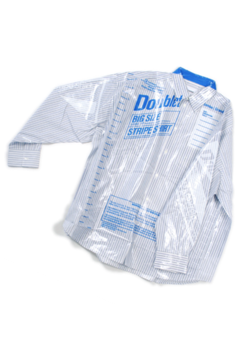 doublet 18AW20SH49 OVERSIZED FREEZER-BAG PACKAGE SHIRT 2カラー