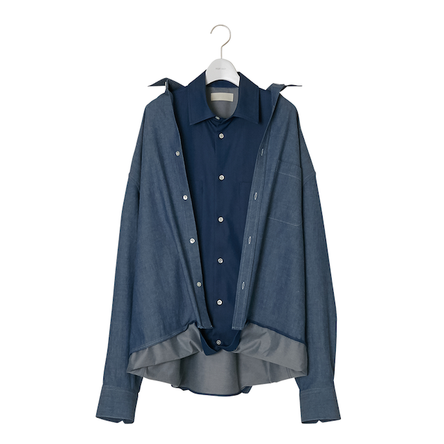 NEONSIGN SANDWICH DENIM SHIRT