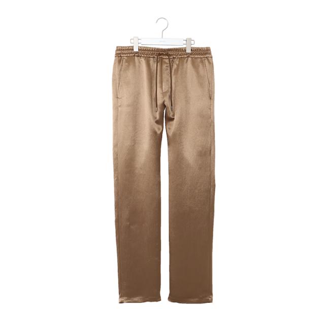 NEONSIGN ACETATE SATIN PANTS GOLD