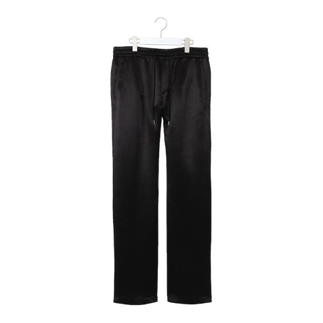 NEONSIGN ACETATE SATIN PANTS BLACK