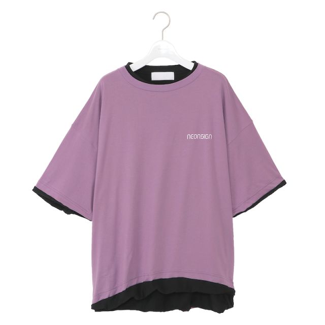 NEONSIGN SANDWICH T-SHIRT PURPLE