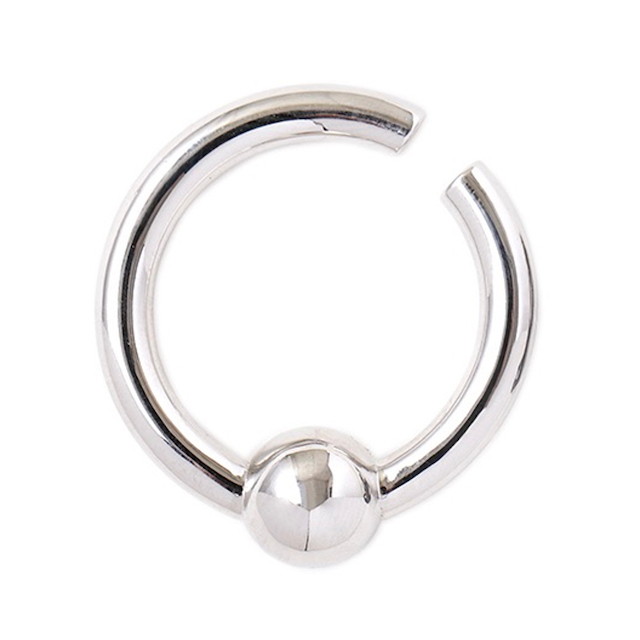 JOHNLAWRENCESULLIVAN CAPTIVE BEAD RING EAR CUFF SILVER