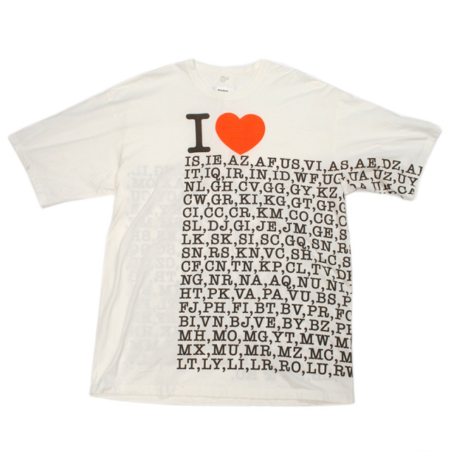 doublet COMPRESSED EARTH T-SHIRT I  LOVE~