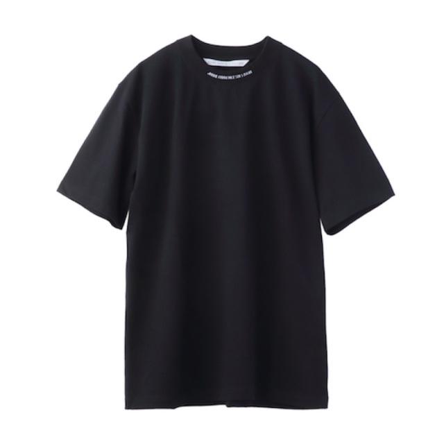 JOHNLAWRENCESULLIVAN LOGO JACQUARD T-SHIRT BLACK/WHITE