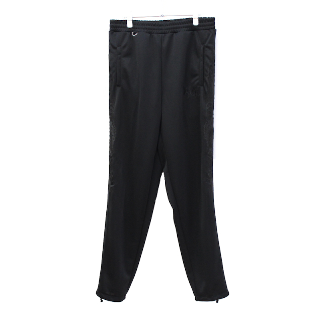 doublet CHAOS EMBROIDERY TRACK PANTS BLACK