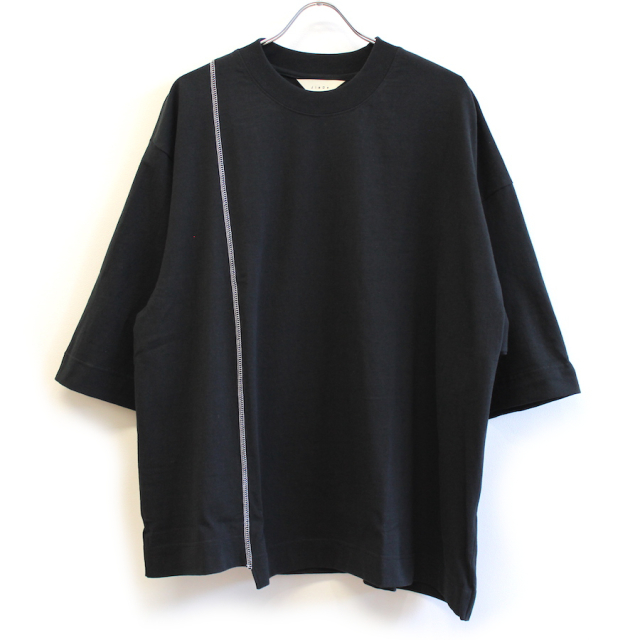 "JIEDA ASYMMETRY T-SHIRT ""FRUIT OF THE LOOM"" BLK"