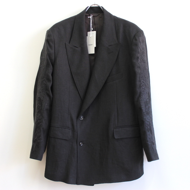 doublet CHAOS EMBROIDERY LINEN TAILORED JACKET BLACK