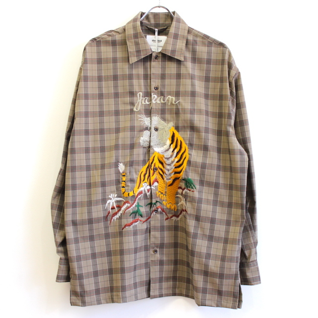 doublet BITTING EMBROIDERY SHIRT BEIGE