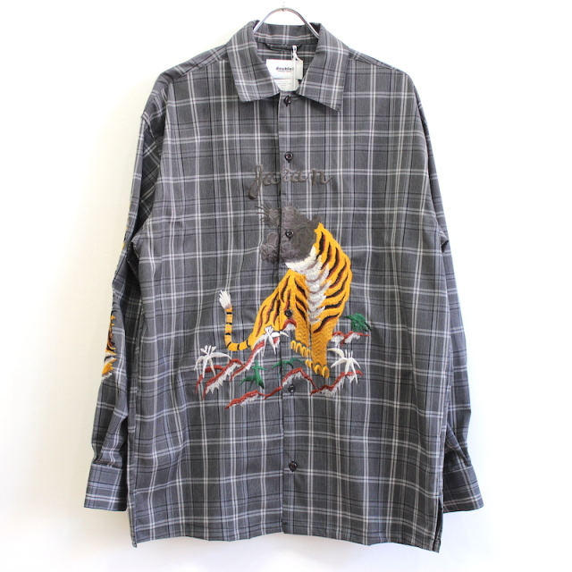 doublet BITTING EMBROIDERY SHIRT GREY