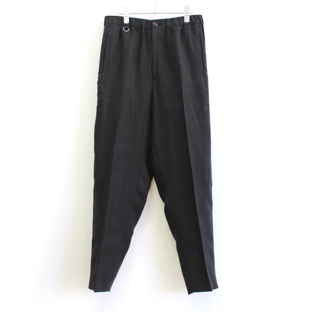 doublet CHAOS EMBROIDERY LINEN TAPERED TROUSERS BLACK