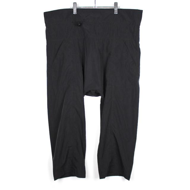 YSTRDY's TMRRW AGEING TAFFETA KOWLOON EASY PANTS BLACK