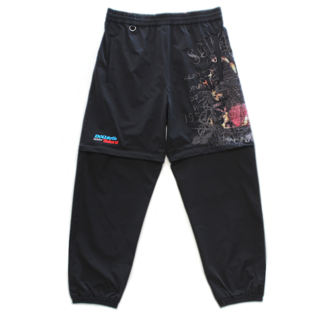 doublet PRINTED CHAOS EMBROIDERY 2WAY PANTS BLACK