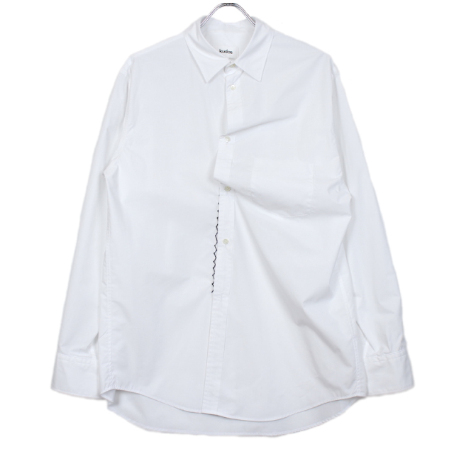 KUDOS TWISTED SHIRT PLAIN WHITE