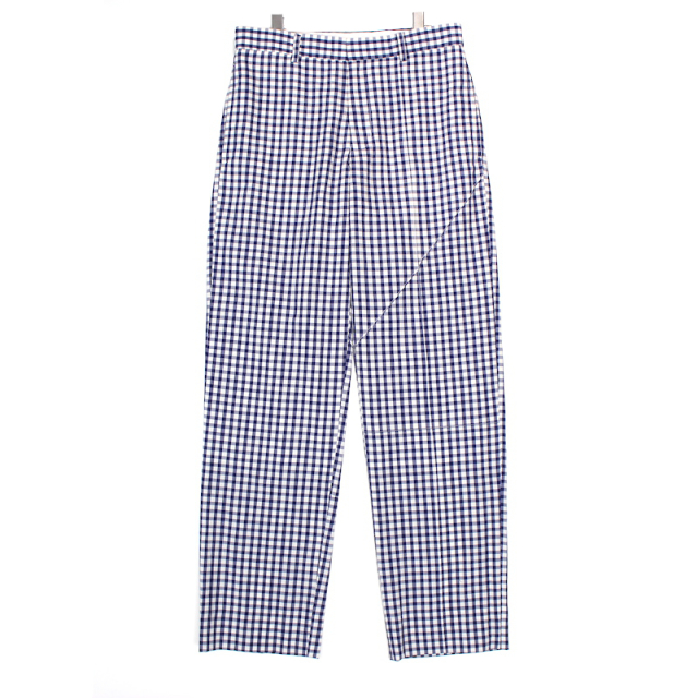 KUDOS TUCKED LINES TROUSERS CHECK