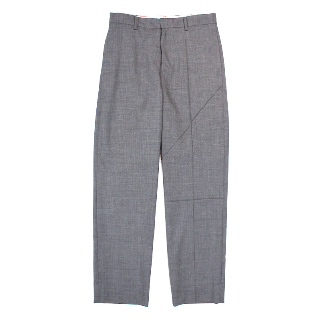 KUDOS TUCKED LINES TROUSERS CHACOAL