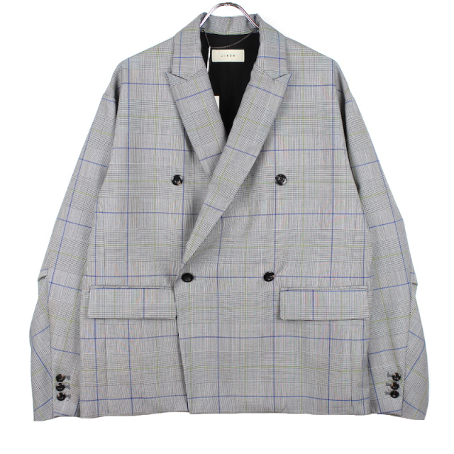 JIEDA DOUBLE TAILORED JACKET GLEN CHECK