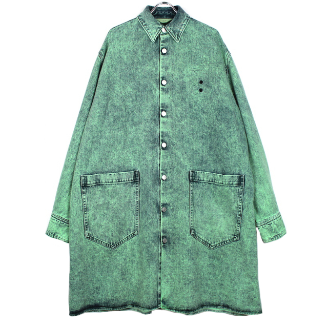JIEDA MINT DENIM COAT