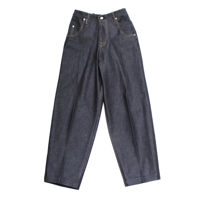 "NEONSIGN WIDE DENIM SLACKS ""INDR"""