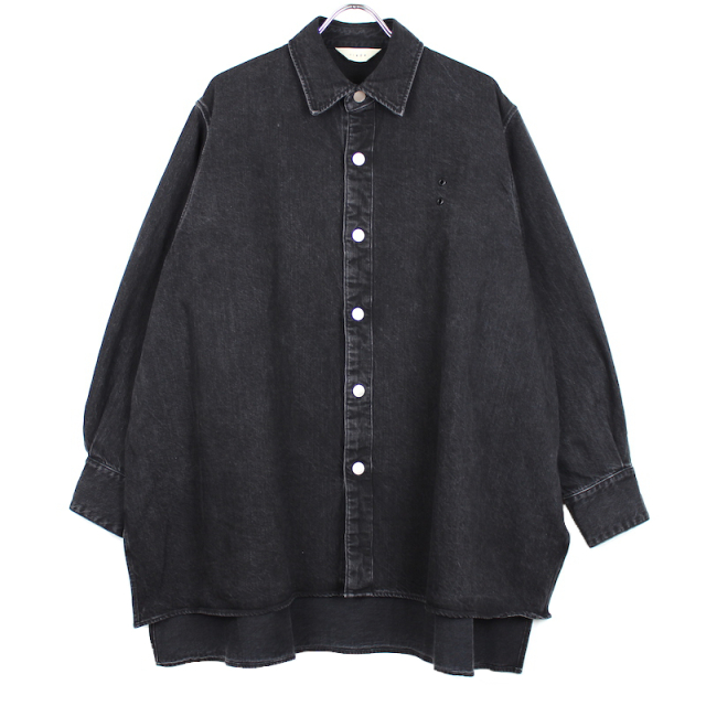 JIEDA DENIM OVER SHIRT BLACK