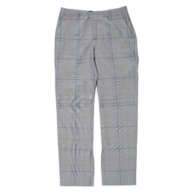 JIEDA CHECK SLIT SLACKS GLEN CHECK