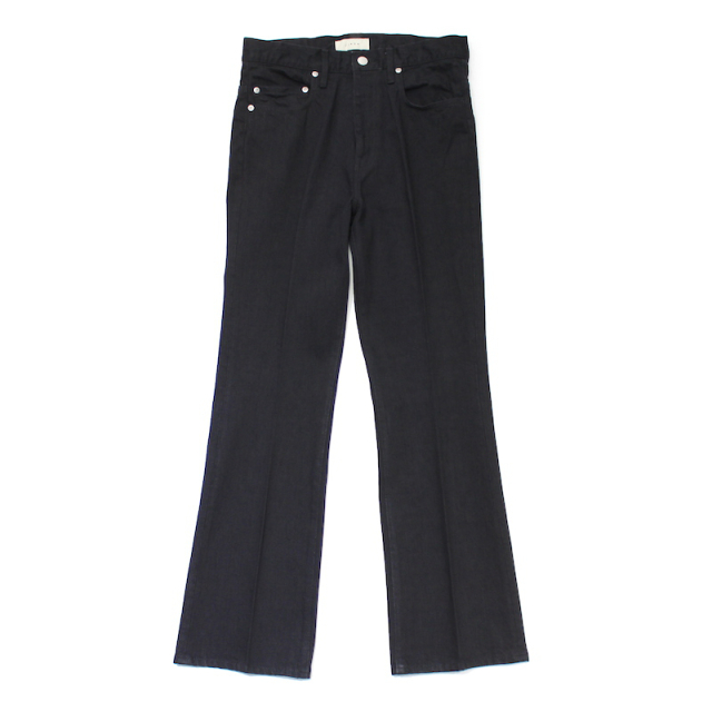 JIEDA OW FLARE DENIM PANTS BLACK