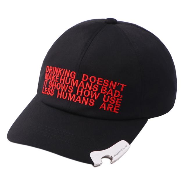 [予約商品] 8月下旬再入荷予定 JOHNLAWRENCESULLIVAN EMBROIDERED CAP WITH BOTTLE OPENER BLACK